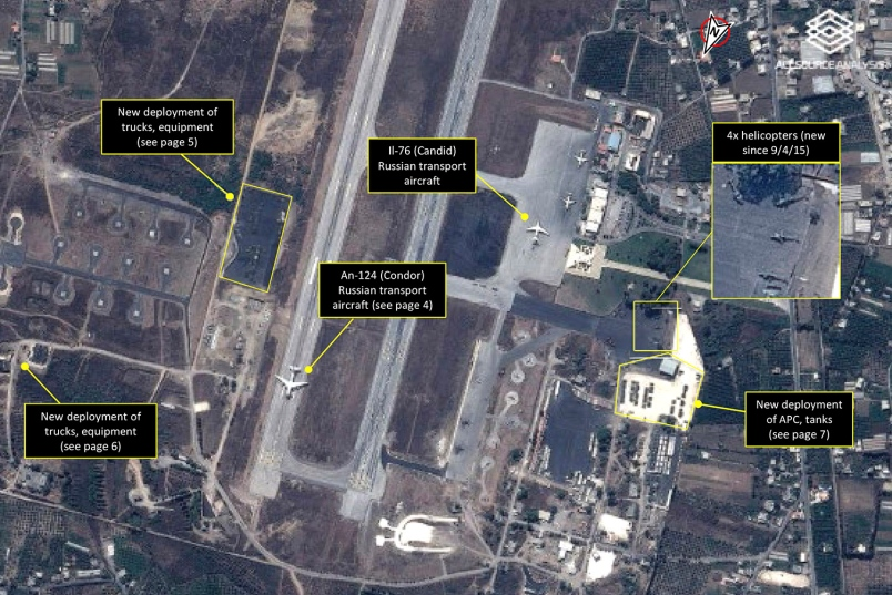 Russian planes in Syria