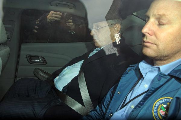 Sheldon-Silver-in-police-car-arrested