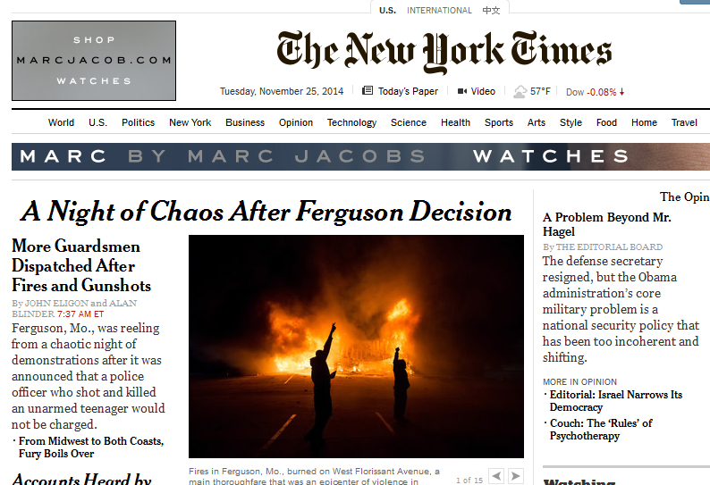NYT-headlines-after-Ferguson