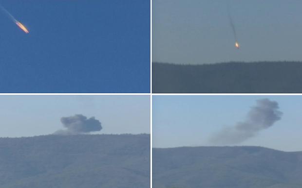 Russian bomber shot down