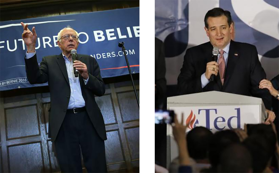 Sanders and Cruz Iowa