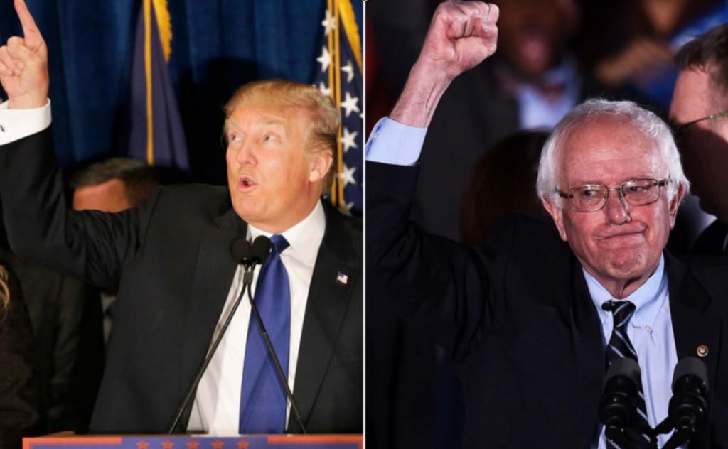 Trump Sanders New Hampshire