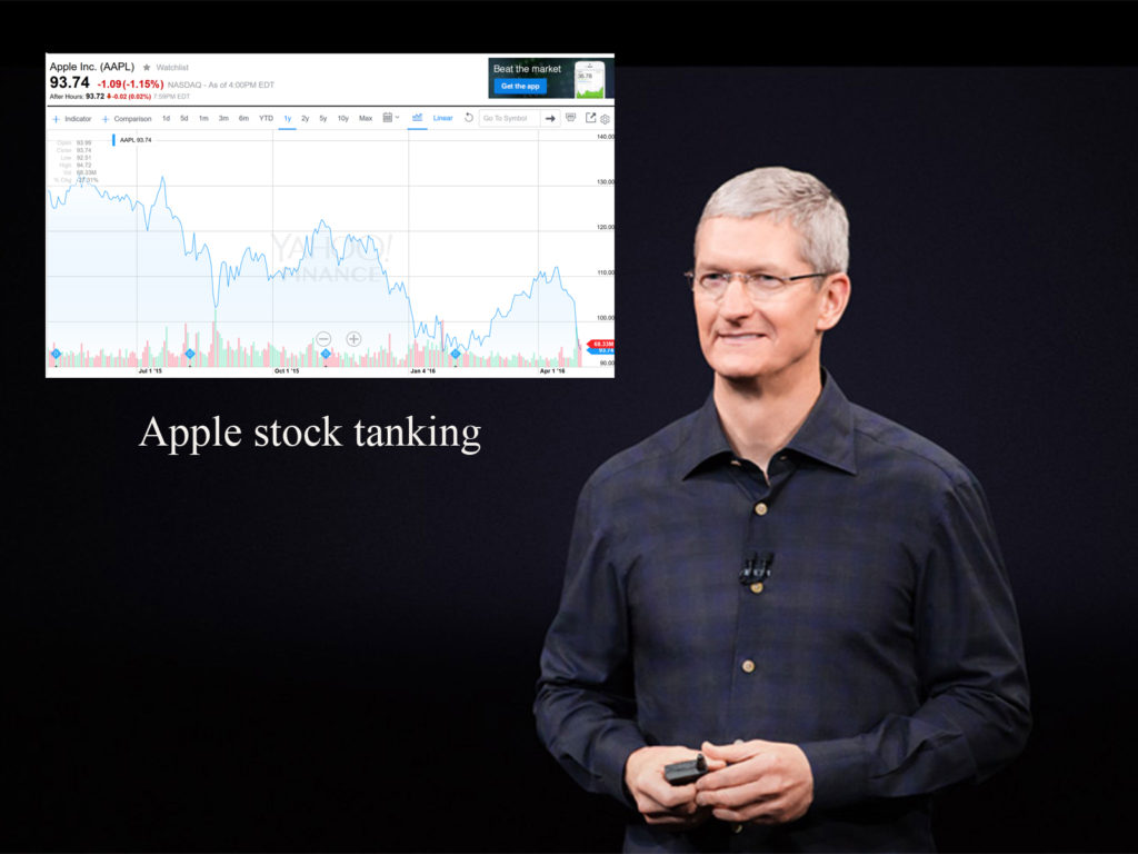 Apple stock tanking