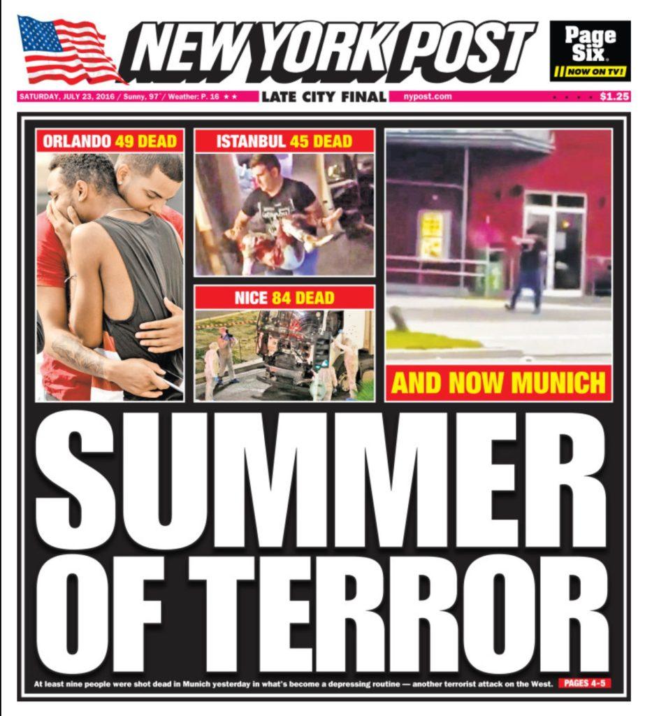 Post cover of terrorist attacks